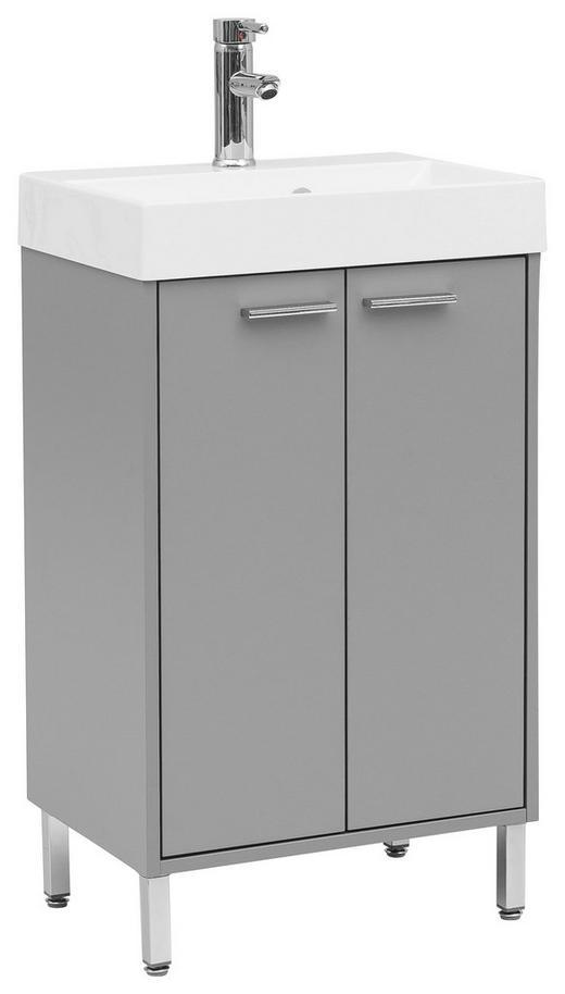 WASCHTISCHKOMBI Grau - Chromfarben/Weiß, Design, Holzwerkstoff/Stein (50/86,5/36cm) - Stylife