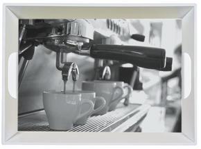 SERVERINGSBRICKA - grå/svart, Klassisk, plast (34,5/46cm) - Homeware