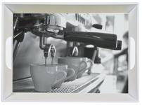 SERVIERTABLETT - Schwarz/Grau, KONVENTIONELL, Kunststoff (34,5/46cm) - Homeware