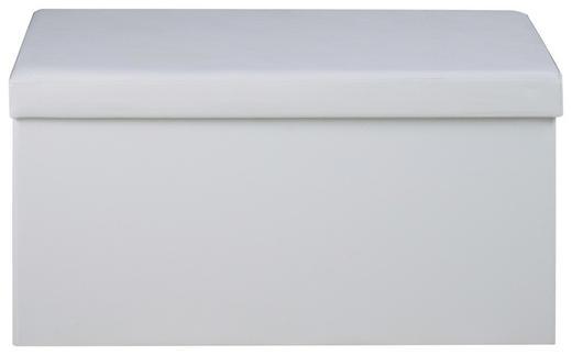 SITZWÜRFEL Lederlook Weiß - Weiß, Basics, Textil (40/40/80cm) - Carryhome