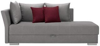 LIEGE in Textil Hellgrau, Rot - Chromfarben/Rot, Design, Kunststoff/Textil (220/93/100cm) - Xora