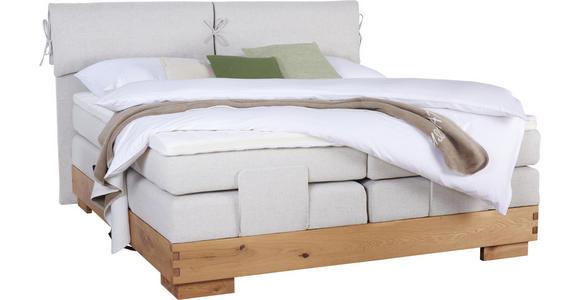 BOXSPRINGBETT 180/200 cm  in Beige, Eichefarben - Eichefarben/Beige, Natur, Holz/Textil (180/200cm) - Valnatura