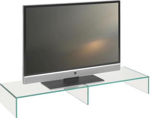 TV-AUFSATZ  Glas  Klar - Klar, Design, Glas (110/14/35cm) - Boxxx