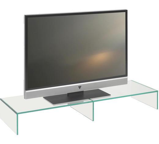 TV NÁSTAVEC, sklo, čiré - čiré, Design, sklo (110/14/35cm) - Boxxx
