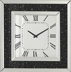 WANDUHR  Schwarz, Silberfarben - Silberfarben/Schwarz, Design, Glas (50,5/50,5/2,2cm) - XORA