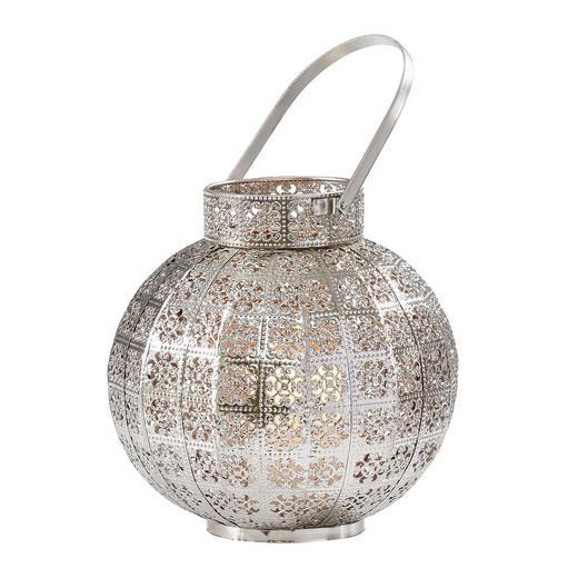 WINDLICHT - Silberfarben, Basics, Glas/Metall (27/27/26cm) - Ambia Home