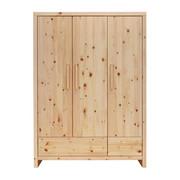 BABYKLEIDERSCHRANK Zirbe  - Naturfarben, Natur, Holz (145/200/56cm) - Jimmylee
