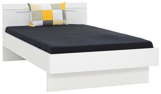 BETT 120/200 cm - Weiß, Design, Holzwerkstoff (120/200cm) - Xora