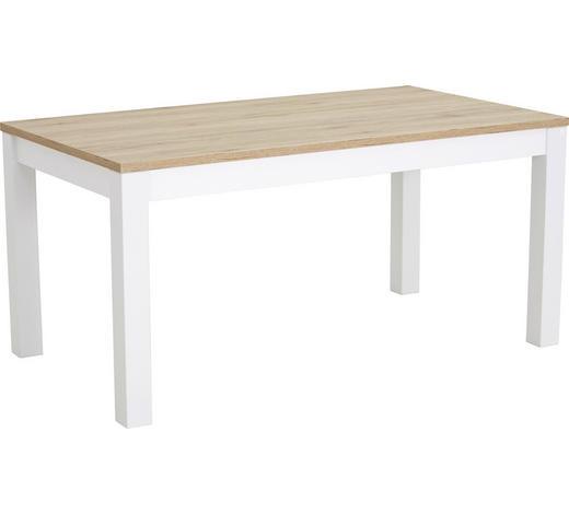 ESSTISCH rechteckig Weiß, Eichefarben - Eichefarben/Weiß, Design, Holzwerkstoff (160(230)/90/76cm) - Valdera