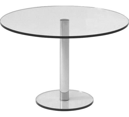 ESSTISCH in Metall, Glas  110/74 cm - Klar, Design, Glas/Metall (110/74cm) - Bacher