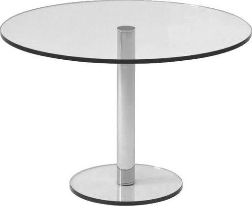 ESSTISCH rund Klar - Klar, MODERN, Glas/Metall (110/74cm)