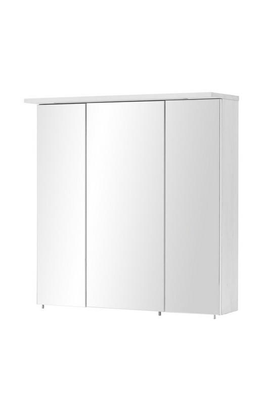 SPIEGELSCHRANK Weiß - Weiß/Nickelfarben, Design, Glas/Holzwerkstoff (71/73/24cm) - Stylife