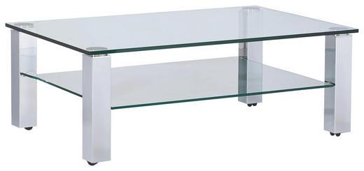 COUCHTISCH rechteckig Chromfarben - Chromfarben, Design, Glas/Kunststoff (120/80/43cm)