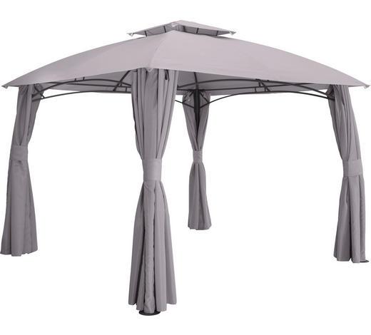 PAVILLON Stahl Grau  - Anthrazit/Grau, Basics, Textil/Metall (400/270/300cm) - Ambia Garden