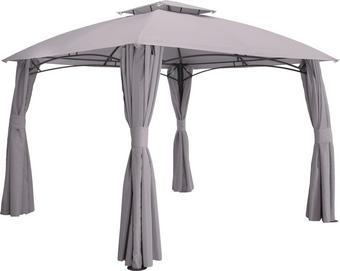 PAVILON - šedá/antracitová, Design, kov/textil (400/270/300cm) - Ambia Garden