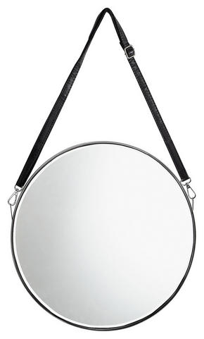 SPEGEL - silver/svart, Design, metall/glas (30/2,4cm) - Xora