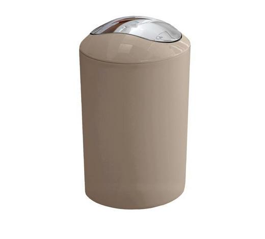KOSMETIKEIMER 5 L  - Taupe/Schwarz, Basics, Kunststoff (5l) - Kleine Wolke