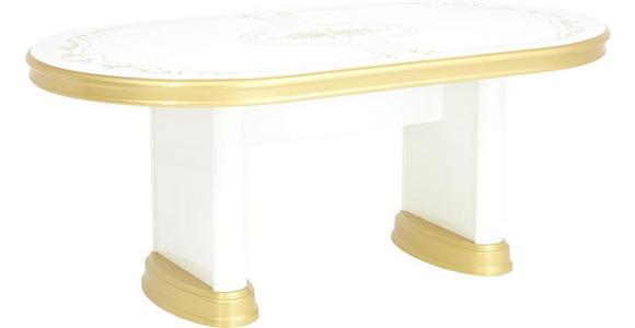 ESSTISCH in Kunststoff, Holzwerkstoff   - Goldfarben/Weiß, LIFESTYLE, Holzwerkstoff/Kunststoff (182(232)/104/76cm) - Cantus