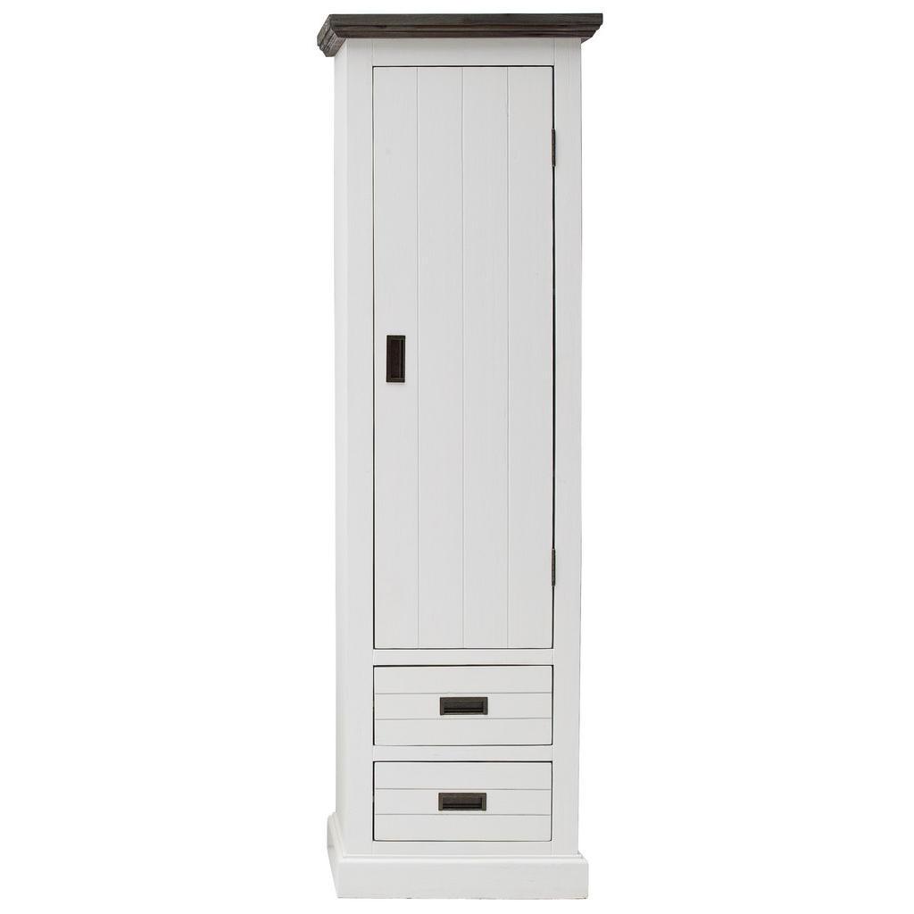 XXXLutz Garderobenschrank akazie massiv weiß