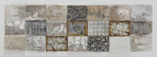 Strukturen BILD - Silberfarben/Braun, Design, Holz/Textil (150/55cm) - Monee