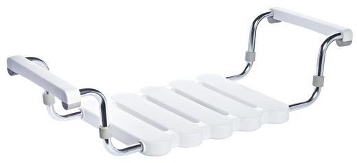 BADEWANNENEINSATZ Metall, Kunststoff - Silberfarben/Weiß, Basics, Kunststoff/Metall (50-63,5/11,5/31cm)