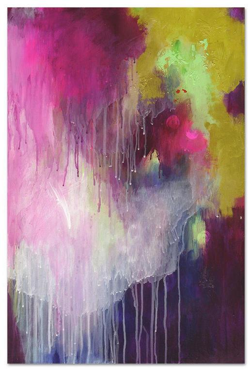Abstraktes KEILRAHMENBILD - Pink, Textil (120/80cm) - WIEDEMANN