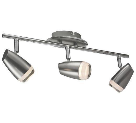 LED-STRAHLER - Chromfarben/Nickelfarben, Design, Kunststoff/Metall (15/8/46cm)