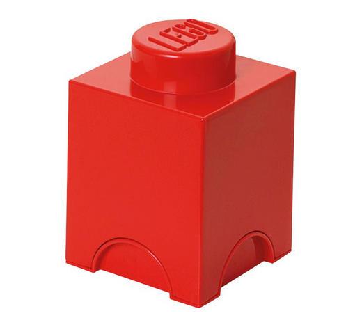 AUFBEWAHRUNGSBOX 12,5/12,5/18 cm  - Rot, Trend, Kunststoff (12,5/12,5/18cm) - Lego