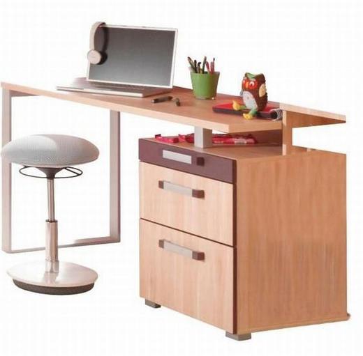 SCHREIBTISCH Apfelbaumfarben, Aubergine - Chromfarben/Apfelbaumfarben, Design, Metall (136/73,6/60cm) - Venda