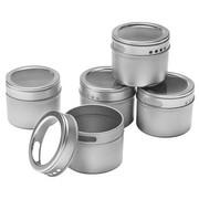 SET POSUDA ZA ZAČINE - boje srebra/prozirno, Basics, metal/plastika (36/8.5/6cm) - Homeware Profession.