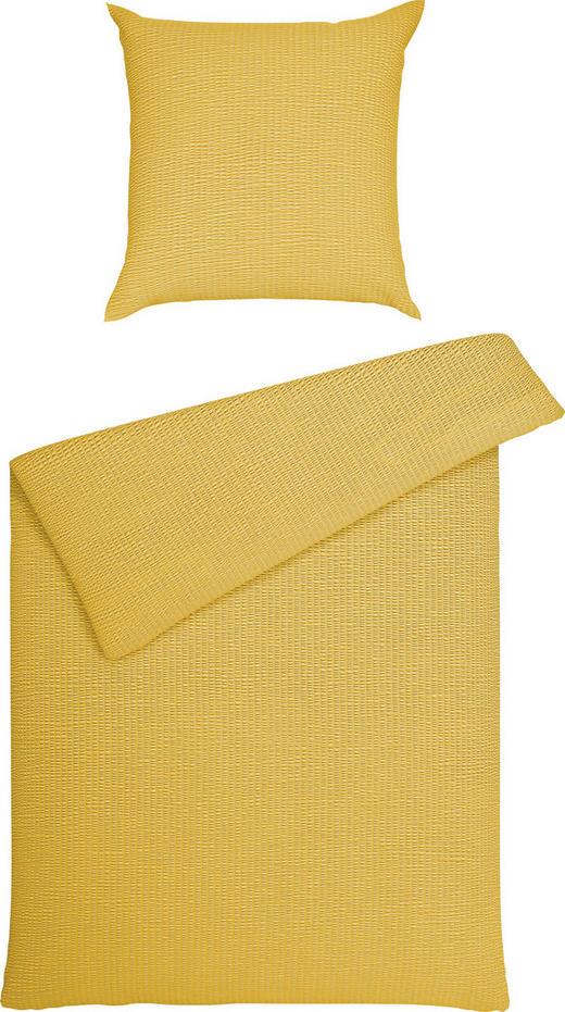 BETTWÄSCHE Seersucker Gelb 135/200 cm - Gelb, Basics, Textil (135/200cm) - JANINE