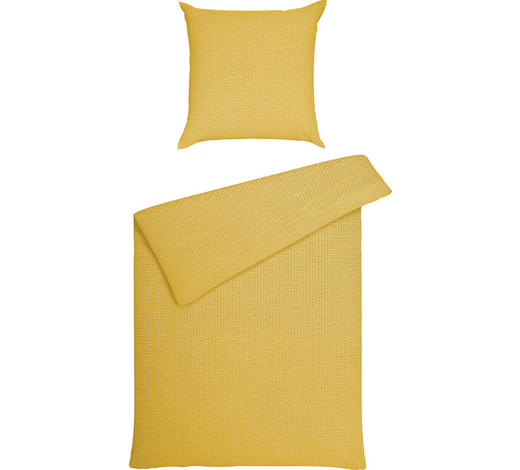 BETTWÄSCHE Seersucker Gelb 155/220 cm  - Gelb, Basics, Textil (155/220cm) - Janine