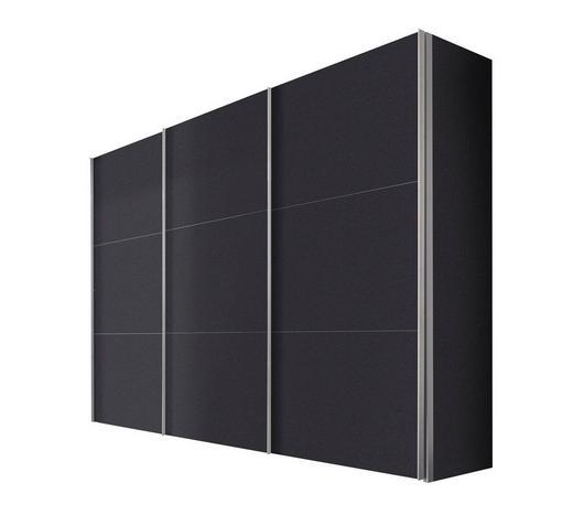 SCHWEBETÜRENSCHRANK 3  -türig Graphitfarben - Graphitfarben/Alufarben, KONVENTIONELL, Holzwerkstoff/Metall (300/216/68cm) - Hom`in