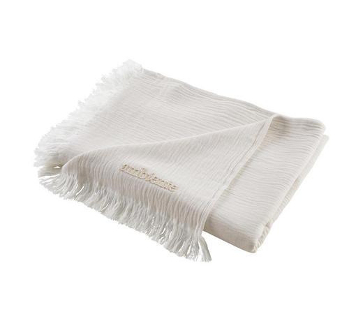 WOHNDECKE 130/170 cm - Silberfarben/Weiß, KONVENTIONELL, Textil (130/170cm) - Ambiente