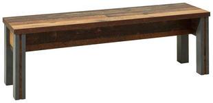 SITZBANK in Holzwerkstoff Grau, Pinienfarben  - Grau/Pinienfarben, KONVENTIONELL, Holzwerkstoff (140/44/35cm) - Hom`in