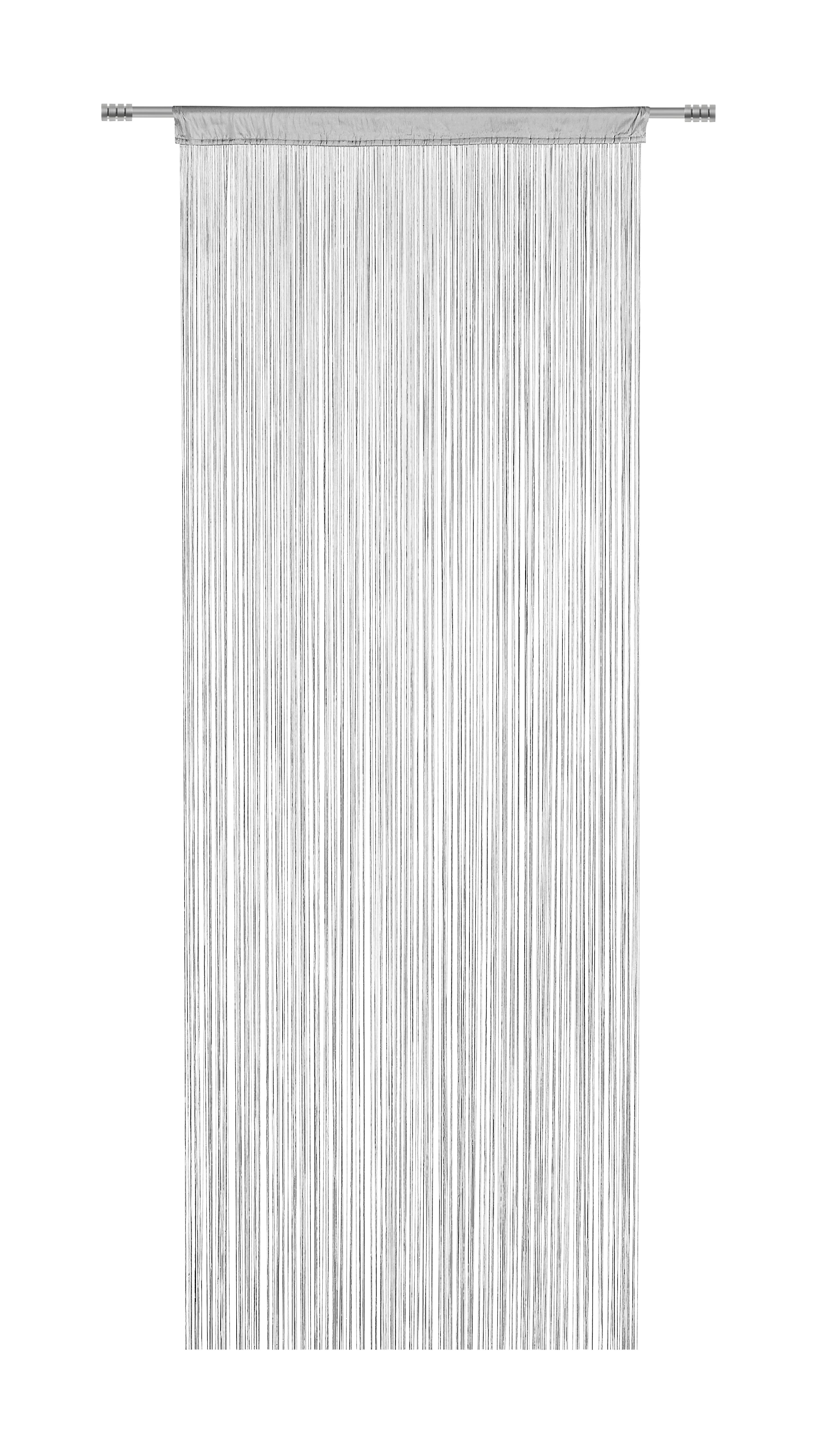 FADENSTORE  transparent  90/245 cm - Silberfarben, Basics, Textil (90/245cm) - BOXXX