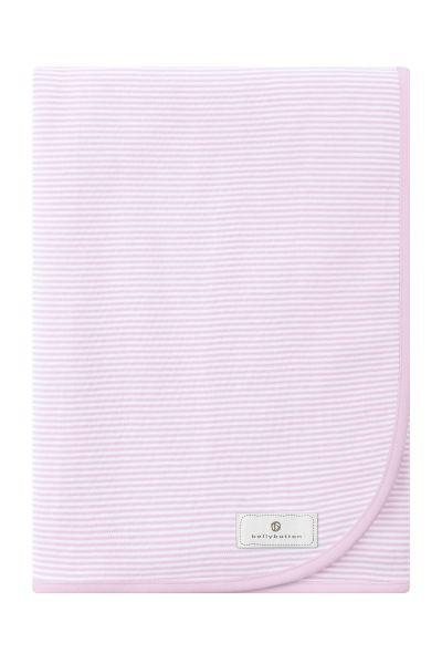 BABYDECKE - Rosa/Weiß, Textil (80/80cm) - BELLY BUTTON