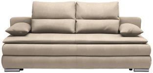 SCHLAFSOFA in Textil Creme, Silberfarben  - Silberfarben/Creme, KONVENTIONELL, Kunststoff/Textil (207/94/90cm) - Venda