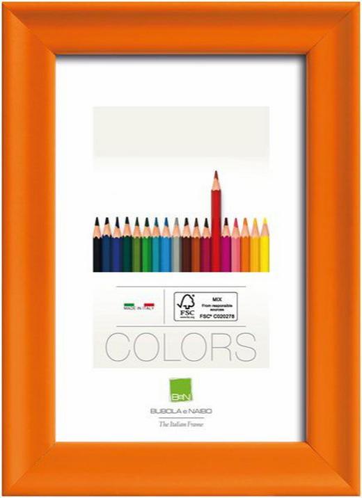 BILDERRAHMEN in Orange - Orange, Basics, Glas/Holz (23,4cm)