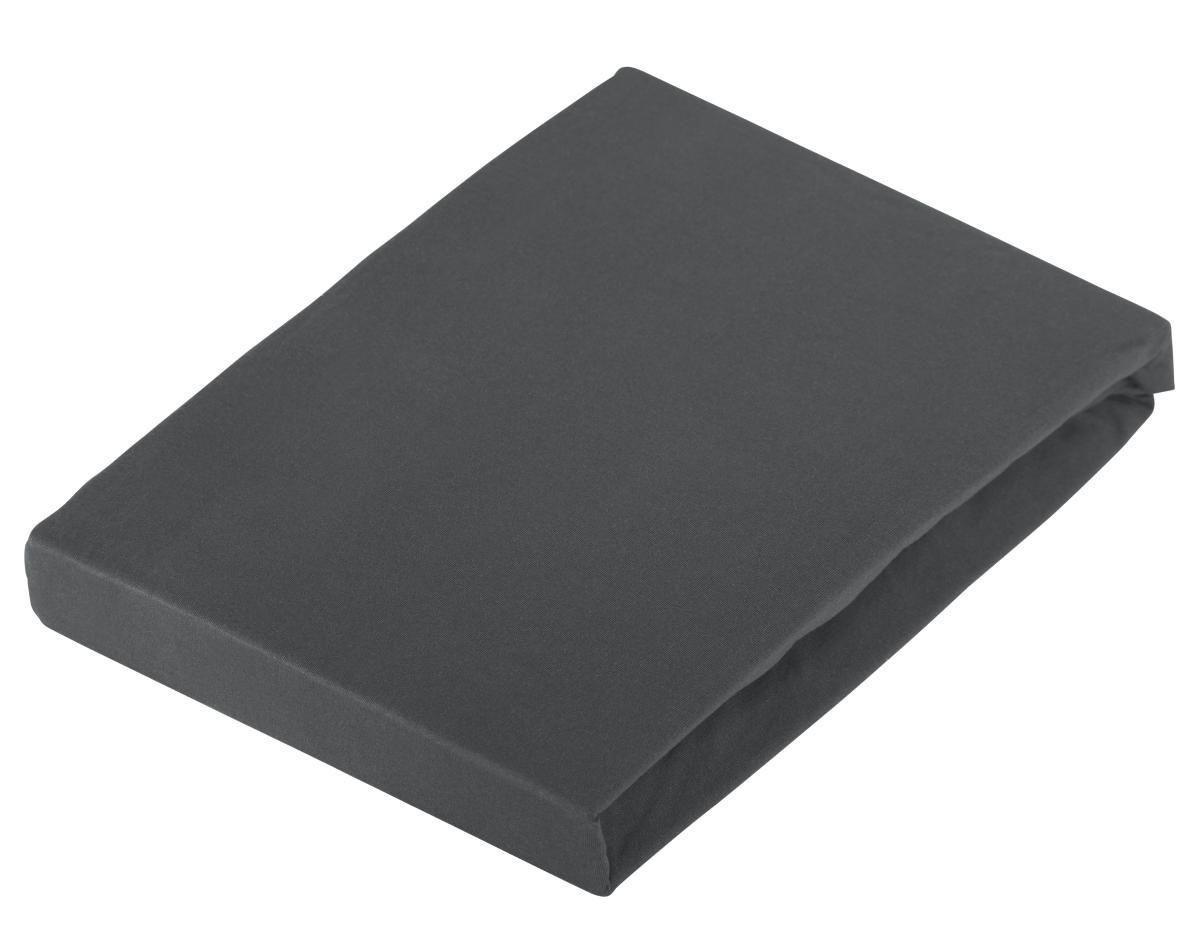 PROSTĚRADLO NAPÍNACÍ - tmavě šedá, textil (120/200cm)