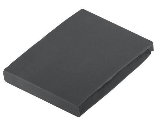 SPANNBETTTUCH Jersey Dunkelgrau bügelfrei - Dunkelgrau, Basics, Textil (120/200cm) - Novel