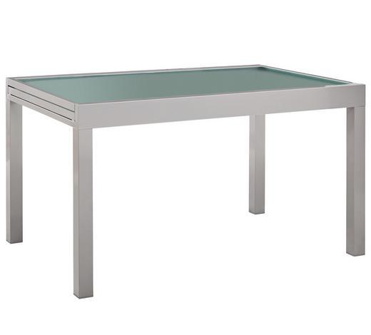 ZAHRADNÍ STŮL, barvy stříbra - barvy stříbra, Basics, kov/sklo (135(270)/90/75cm) - Ambia Garden