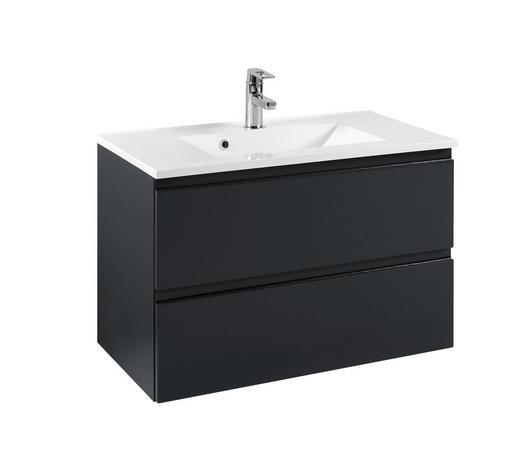 WASCHTISCHKOMBI Graphitfarben - Graphitfarben/Weiß, Design, Holzwerkstoff/Stein (80/56/47cm) - Xora