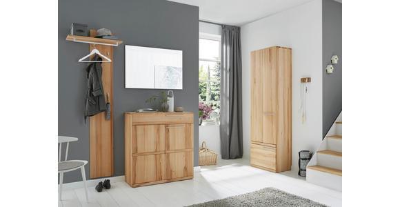 GARDEROBENSCHRANK 60/200/37 cm - Silberfarben/Buchefarben, Natur, Holz/Metall (60/200/37cm) - Valnatura