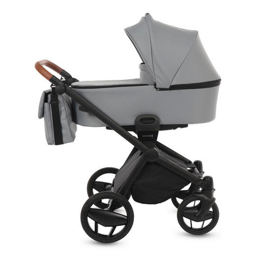 Preimium Life + Black Line  Knorr-Baby Kinderwagenset  Grau - Schwarz/Grau, Basics, Textil/Metall (57/105/109cm)