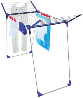 STALAK ZA SUŠENJE RUBLJA - bijela/plava, Basics, metal/plastika (90cm) - LEIFHEIT