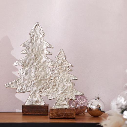 Dekoweihnachtsbaum 55 cm  Silberfarben - Silberfarben, Design, Metall (38/9/55cm)