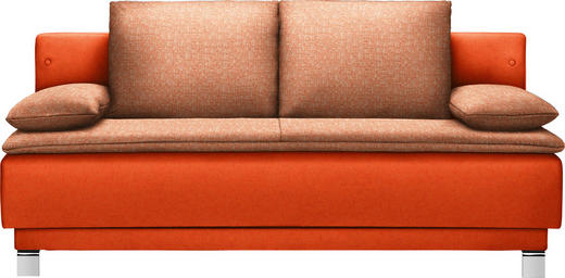 SCHLAFSOFA in Textil Orange - Orange, Design, Textil/Metall (200/85/90cm) - Joka