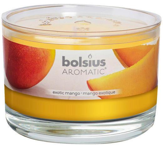 DUFTKERZE Exotische Mango - Klar/Orange, Basics, Glas (9/6,3cm) - Bolsius