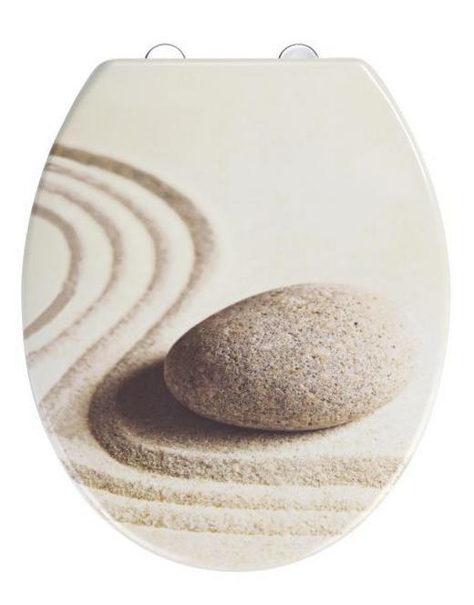 WC-SITZ Beige, Weiß - Beige/Weiß, Basics, Kunststoff (37,5/45cm)